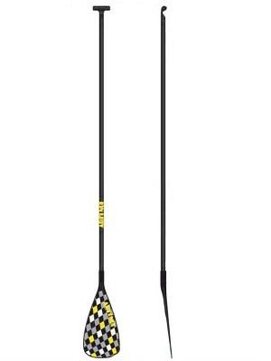 Ari'i Nui SUP Paddel - Fibreglass Deluxe Checkers (Yellow Silver)