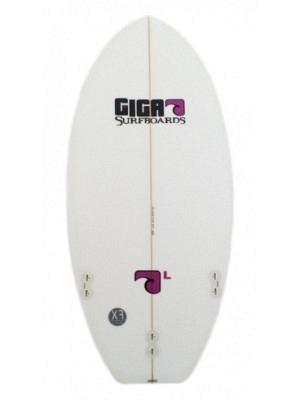 """Giga Model 'L' Surfboard 4'08"""" - FCS Fusion - incl. Board Cover"""