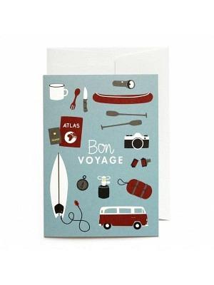 Road Typing Grusskarte Bon Voyage