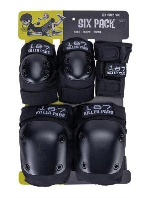 187 Killer Pads Combo Six Pack Black