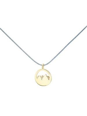 Silver+Surf Jewellery Mountain Gold Plated Gr S - Silberschmuck