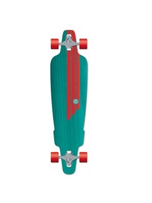 Flying Wheels Carving Skateboard 38,5 Rig Turquois